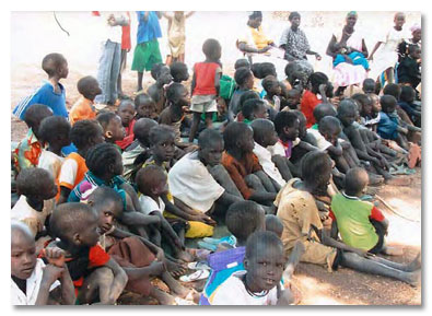 Orphan Children in Sudan being cared for