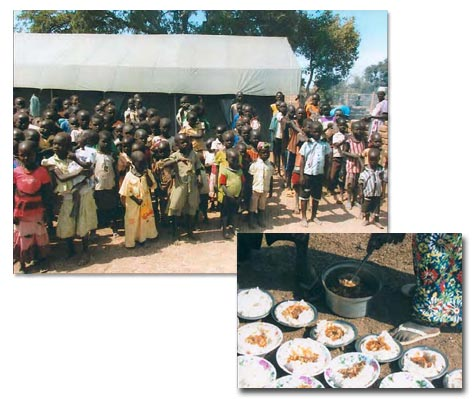 Food preparation for Sudan orphanage