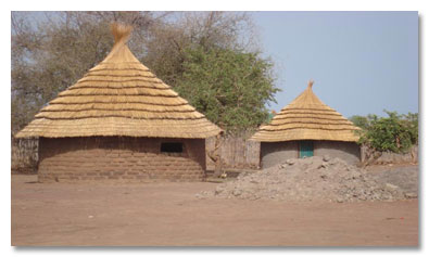 Typical South Sudanese housing