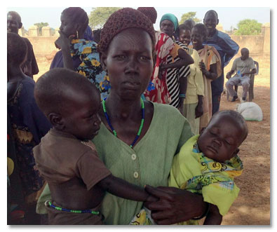 Church distirbutes food South Sudan